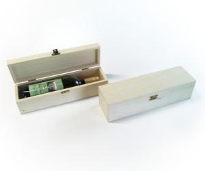 Drevená kazeta pre jednu fľašu