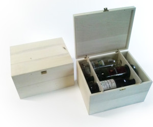 Drevený box pre šesť fliaš