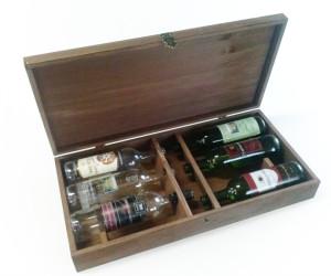 Drevená kazeta pre šesť fliaš